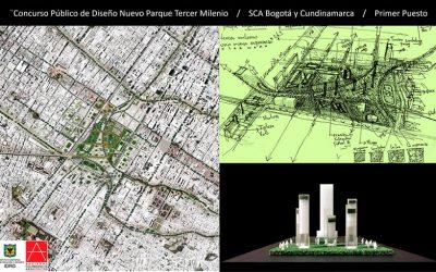 3er Lugar concurso público de diseño urbano para el nuevo Parque Tercer Milenio en Bogotá