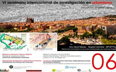Ponencia en el VI seminario internacional de Urbanismo 2014