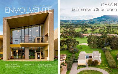 Casa H, minimalismo Suburbano, Revista Envolvente